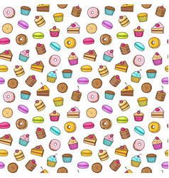 Kawaii seamless backgroundon a white background of vector