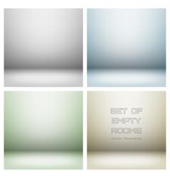 Light studio rooms vector image vector image