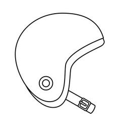 motorcycle helmet classic icon vector image