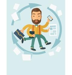Multitasking job vector image