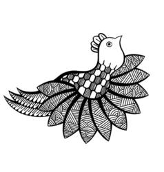 ornamental funny bird vector image