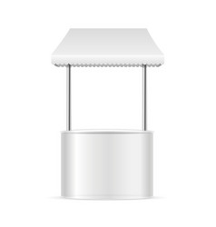 realistic template blank white street fast food vector image