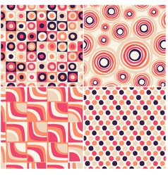 retro seamless abstract pattern vector image vector image