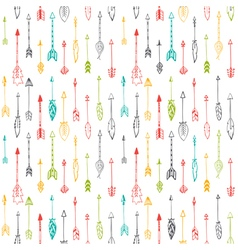Seamless pattern with hand drawn indian arrows vector image