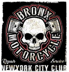 skull vintage motorcycle logo emblem t shirt vector image vector image