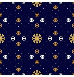 Snowflake seamless pattern winter holiday vector