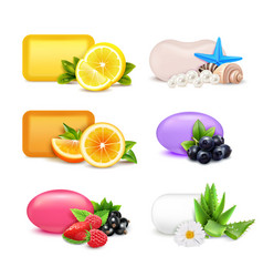 Soap aroma bars set vector