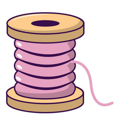 Spool of thread icon cartoon style vector