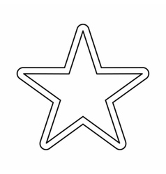 Star icon outline style vector