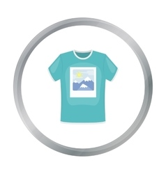 T-shirt icon in cartoon style isolated on white vector