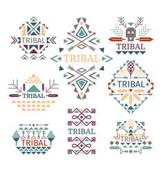 tribal logo set vector image vector image