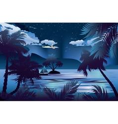 Tropical Island at Night vector image