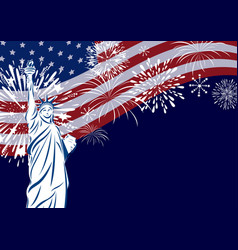 usa celebration design vector image vector image
