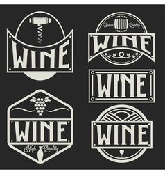 vintage labels and design elements of wine vector image vector image