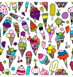 Icecream collection seamless pattern for your vector