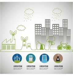 Environmental issues infographic elements vector