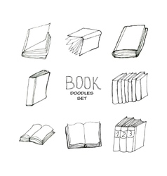 Book doodles set vector