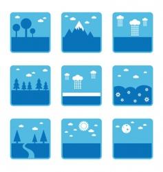 blue landscapes vector image