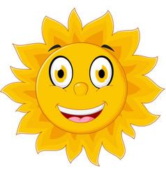 happy sun cartoon character vector image