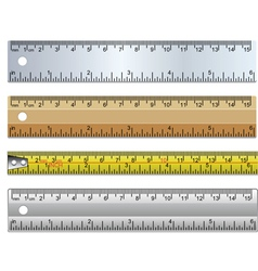 Set of rulers vector