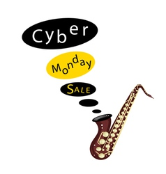 Beautiful Guitars Background of for Cyber Monday vector image