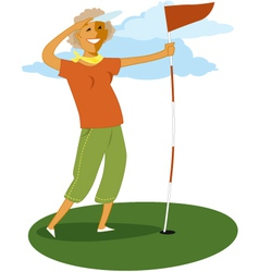 Senior golf vector