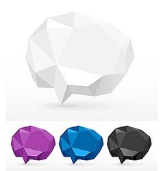 3d speech bubbles vector image