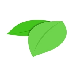 Green leaves isometric 3d icon vector image