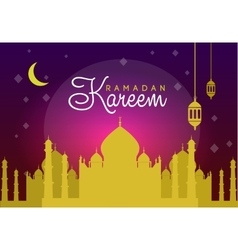 Holiday of shiny ramadan vector