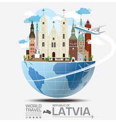 Republic Of Latvia Landmark Global Travel And vector image
