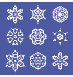 Set of different ornamental rosettes vector
