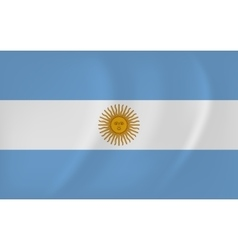 Argentina waving flag vector image