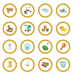 Baby cartoon icon circle vector