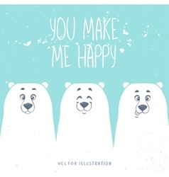 bears white vector image vector image