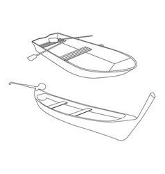 Boat and pirogue flat icon vector