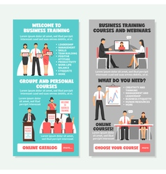 Business Training Vertical Banners vector image vector image