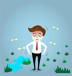 Businessman has no money vector image vector image