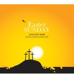 Calvary and crosses against sunset vector image