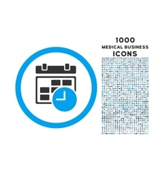 Date and Time Rounded Icon with 1000 Bonus Icons vector image vector image
