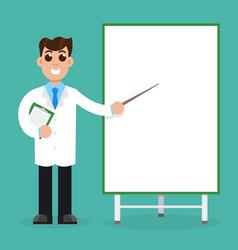 doctors with presentation board vector image