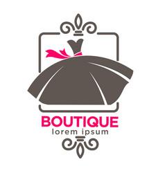 dress boutique or fashion atelier salon vector image vector image