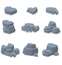Element stone set of vector