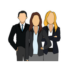 Faceless business people icon image vector