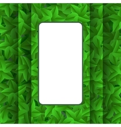 Green Leaves Pattern Summer Leaves Background vector image vector image