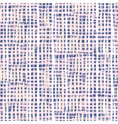 Hand drawn plaid pattern with thin brushstrokes vector