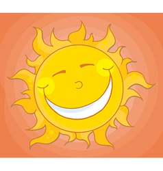 Happy Sun Mascot Cartoon Character vector image vector image