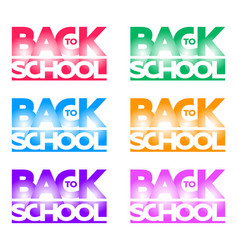 inscription back to school in the form of a logo vector image vector image