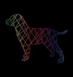 Labrador abstract vector