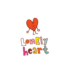 Lonely heart vector