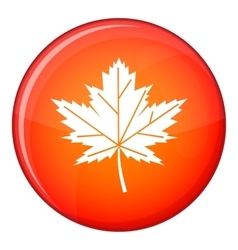 Maple leaf icon flat style vector image vector image